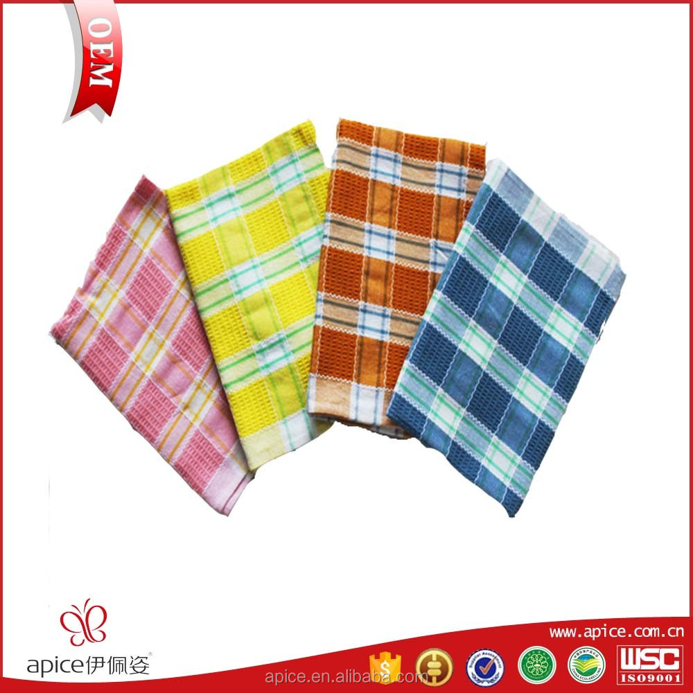 Waffle kitchen high quality wholesale linen tea towels