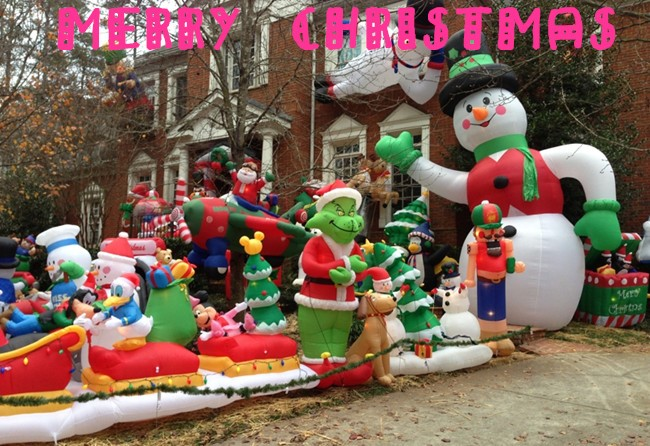 Outdoor Christmas Decorations Large Lowes Christmas Inflatables
