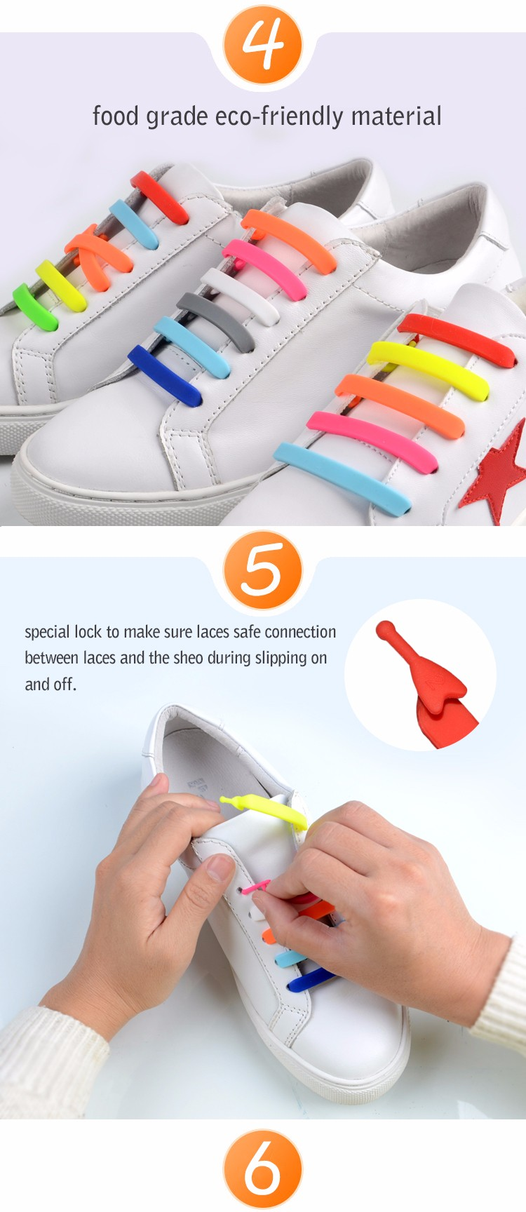 chinese supplier no tie convenient silicone shoelaces for creat gifts