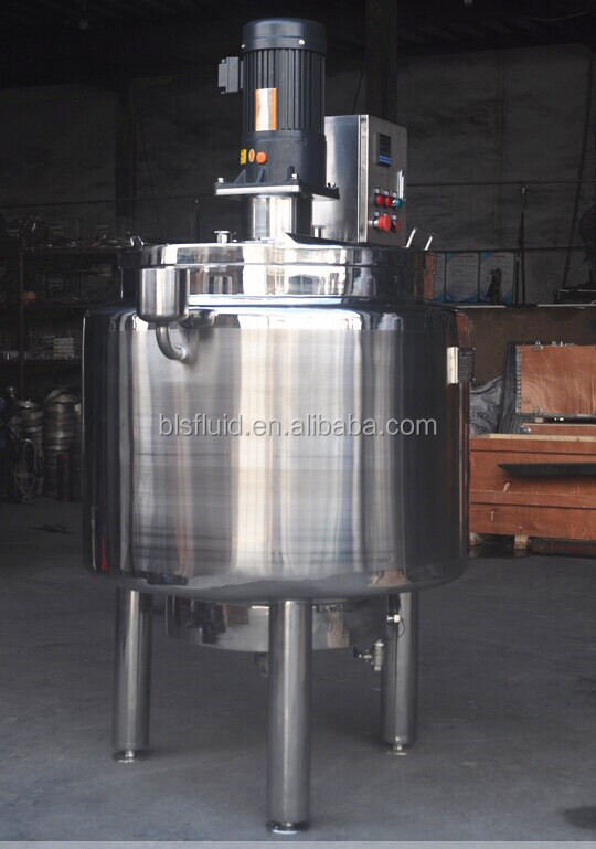 2000 liter jacketed steam heating mixing tanks