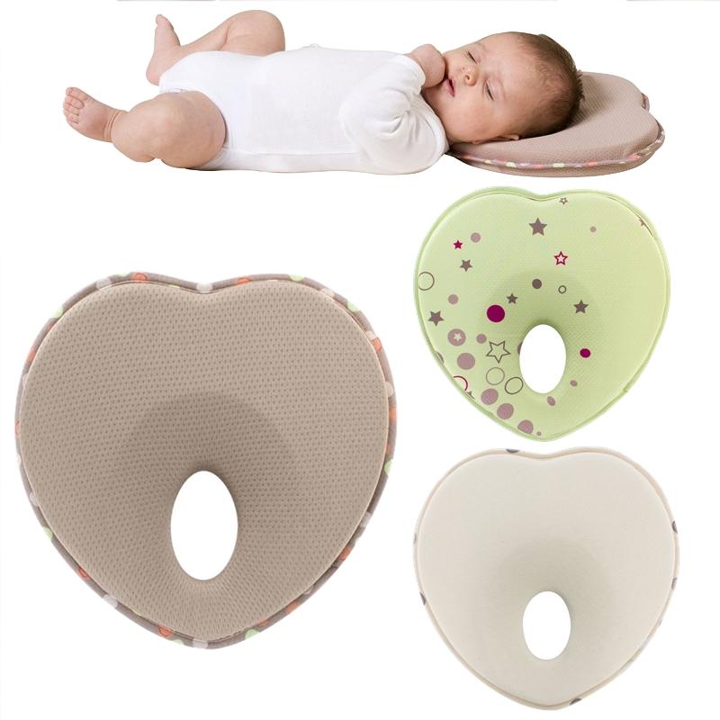 Anti Roll Feeding Flat Head Memory Foam Baby Pillow for Kid Newborn