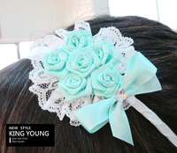 Classic Rose Bouquet Hair Band