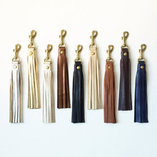 customized high quality Leather Tassel Keychain, Tassel Purse Charm manufacturer in china