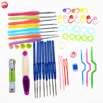 One Set 52Pcs 16 Sizes Set Knitting Needles Crocheting Hooks