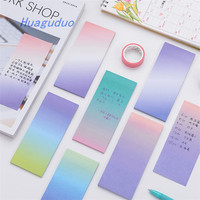 Good quality shenzhen stationery Creative color gradient long section can tear sticky note book office cute sticky notes