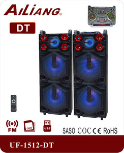 AILIANG NEW Double 15 inch large active stage speaker UF-1512-DT/2.0/FM/USB/SD
