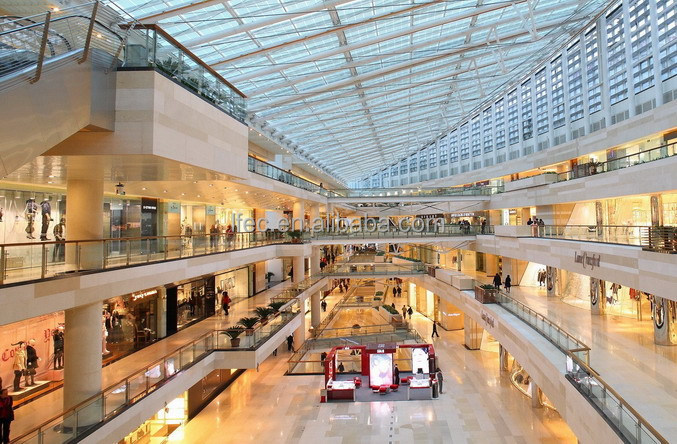 Prefabricated Building Structure Steel Shopping Mall