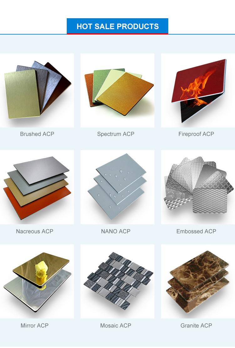 """4 מ""""מ/3 מ""""מ PVDF Alumetal אלומיניום לוחות מרוכבים/ACM/ACP גיליון"""