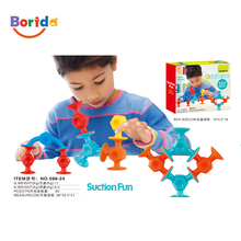New design educational building model blocks suction fun toys for children