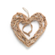 "15.75""Natural Driftwood Heart Wall Decor with Rope Hanging and bowknot"