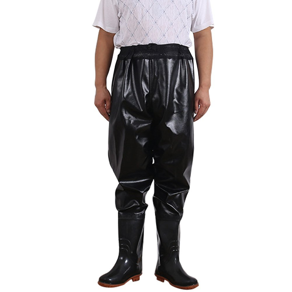 e9d256410b7 Get Quotations · Nachvorn Waist Waders Drawstring Waterproof Trousers  Fishing Waders Men and Women Breathable Fishing Waders Elastic Waist