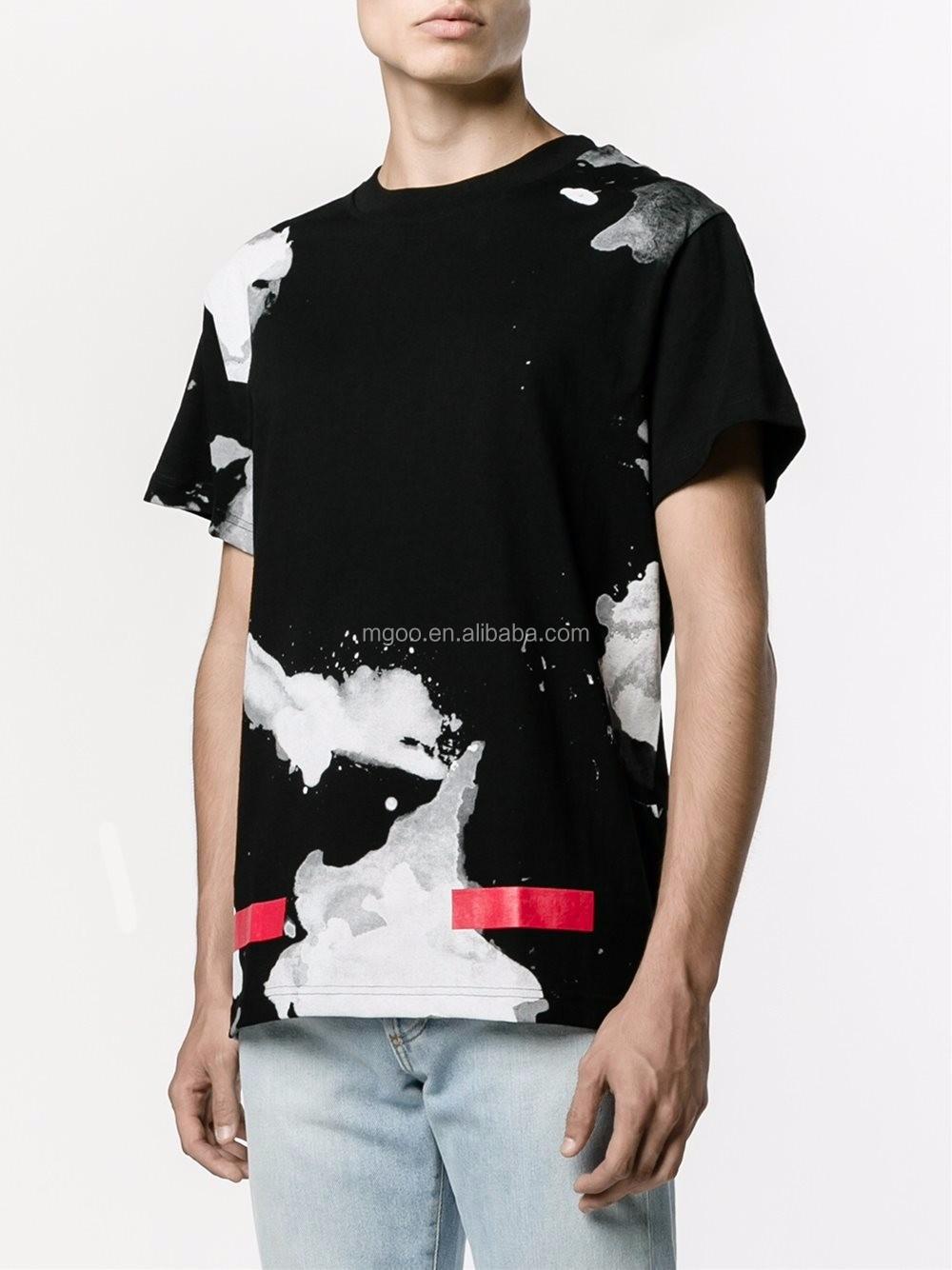 Apparel Full Screen Print Black Unique T Shirt Printing Short Sleeve