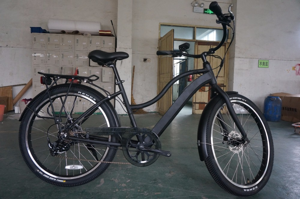 2016 newly design 26inch battery hidden beach cruiser electric bike