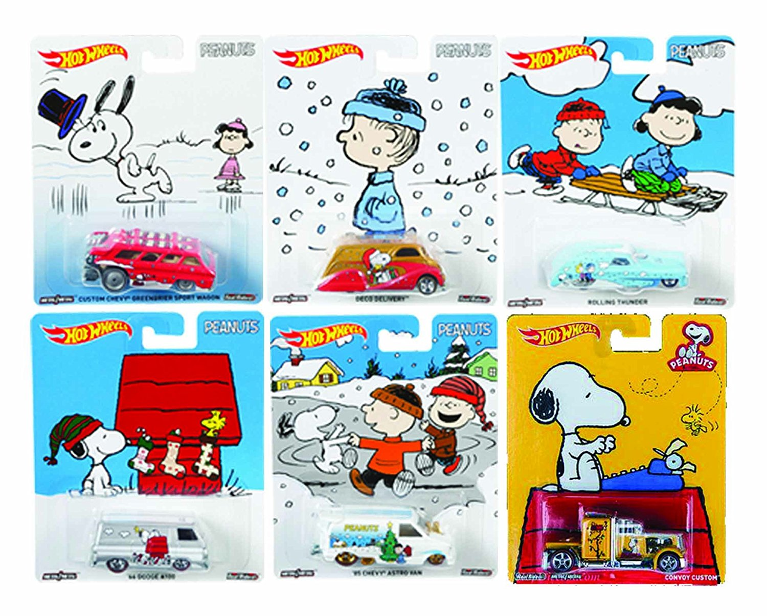 get quotations hot wheels 2016 pop culture snoopy christmas winter peanuts plus pop culture snoopy custom convoy truck - Snoopys Christmas