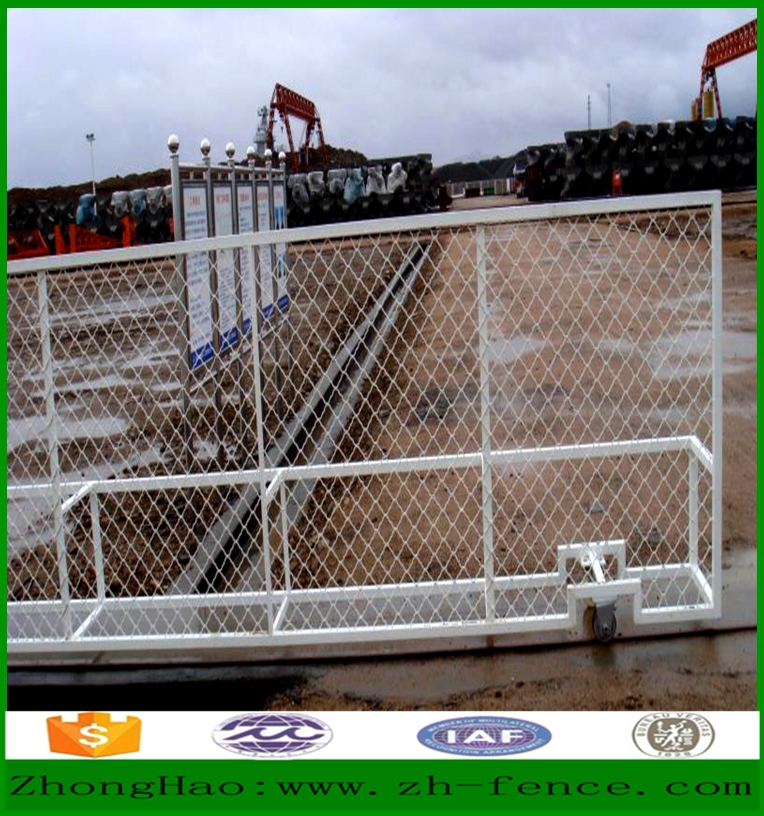 Modern wire mesh fence