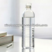 2012 new design double wall clear pyrex glass big water pot with handle and logo(1000ml)
