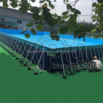 Outdoor Steel Frame Jacuzz Above Ground Pvc Swimming Pool Container Buy Above Ground Swimming
