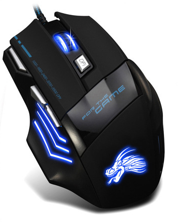 7D Wired Game Mouse Laser Lighted LED Custom Logo Gaming Mouse