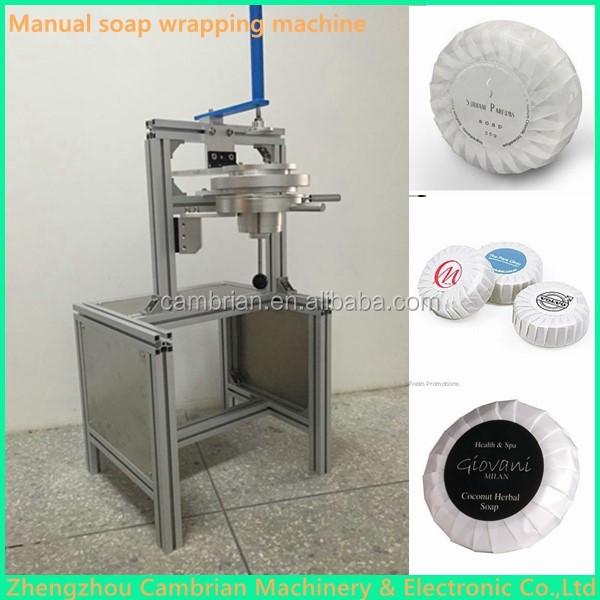 Low price manual pleat toilet round soap wrapping machine for wholesale
