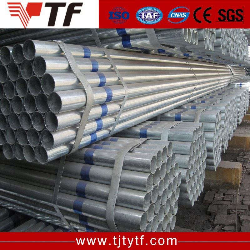 ASTM A106 seamless fluid 5inch 5.8m galvanized steel pipe material properties