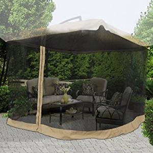 Get Quotations 9x9 Square Feet 79 H Patio Umbrella Mosquito Net Gazebo Top Replacement Blk Mesh Netting
