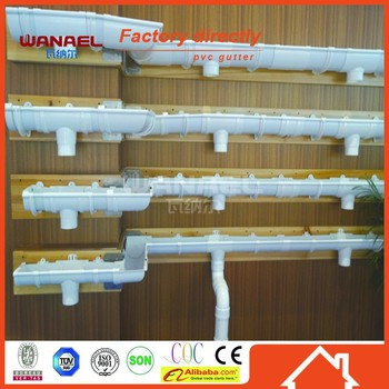 Wanael 2015 Nigera Half Round Plastic Resin Rain Gutter And Downspout For  Roof Drainage System - Buy Plastic Half Round Rain Gutter,Roof Drainage