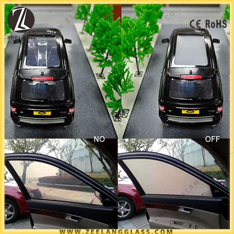 Intelligent magic smart glass car window smart tint film for privacy space