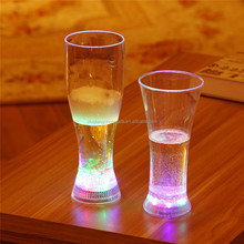 New Arrival Unbreakable Reusable Good Price LED Flashing Pilsner Cocktail Glass