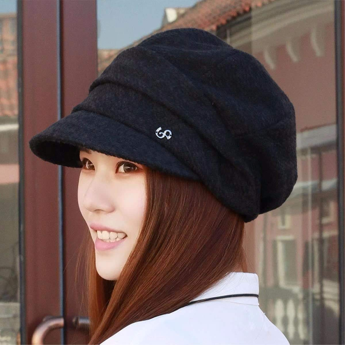 fe48fd2cee7 LONFENN Ladies Women Hats Autumn And Winter Fashion Beret Cap Fashion Hat  Painter Cap Mother Cap