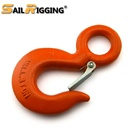US Type A320 Galvanized Alloy Steel Drop Forged Locking Lifting Eye Hook with Safety Latch