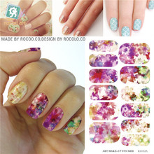 Waterproof nail stickers and selling the move water make-up nail art decal sticker decorations-free Nail Polish K5712B