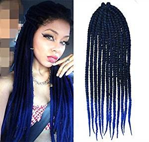 Buy Black To Royal Blue Two Colors Ombre Crochet Braid Hair