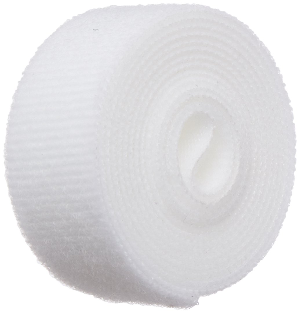 Pressure Sensitive Adhesive Back VELCRO 1001-AP-PSA//L Black Nylon Woven Fastening Tape 10 Length Loop Type 1//2 Wide