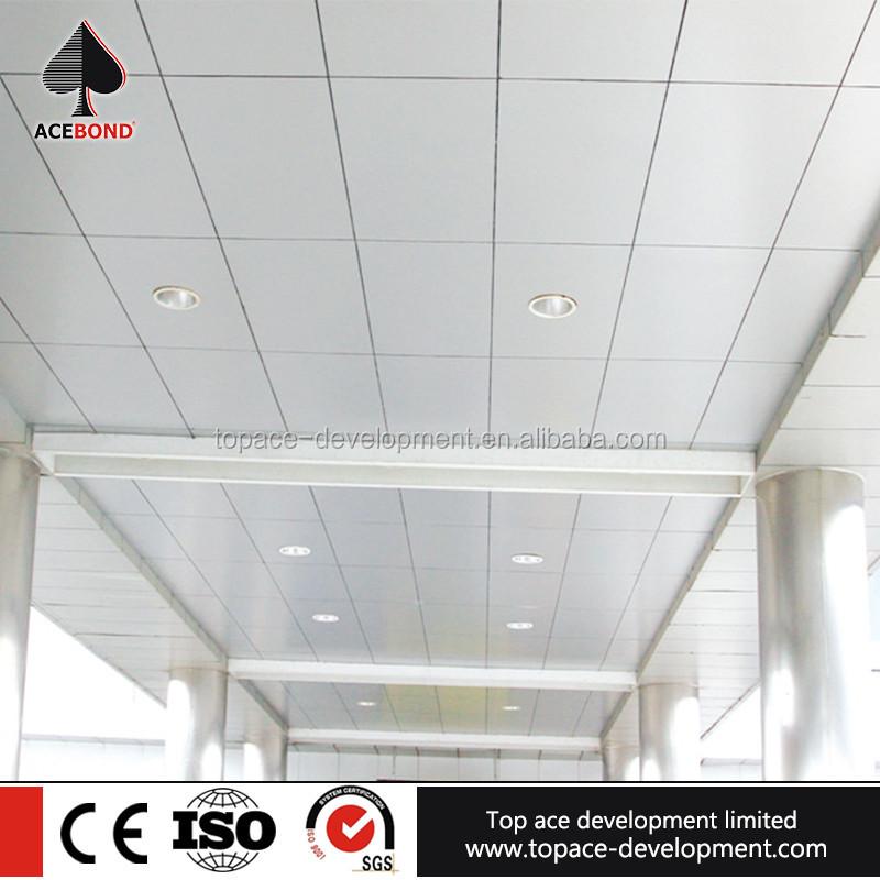 Incombustible indoor aluminio falso techo suspendido - Falso techo aluminio ...