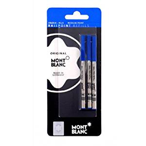 Mont Blanc Set of 3 Ballpoint Refill Medium Blue