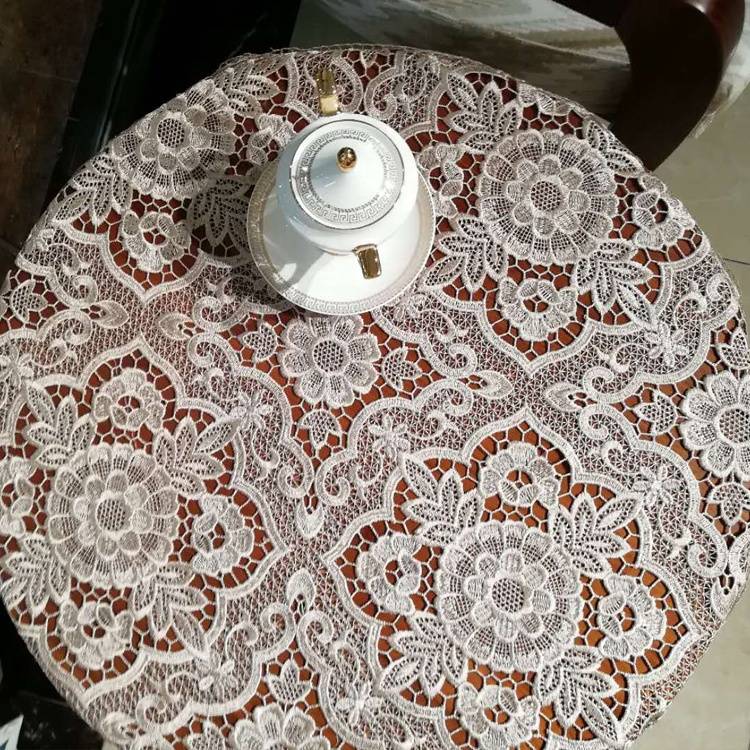 Wholesale Polyester 3d Flower Round Crochet Tablecloth Table Cloth