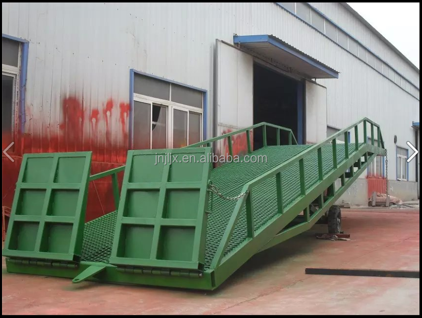 6 tons Mobile hydraulic yard ramp/ dock leveler/ container unloading ramp