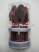 Salon use professional double round folding hair brush comb