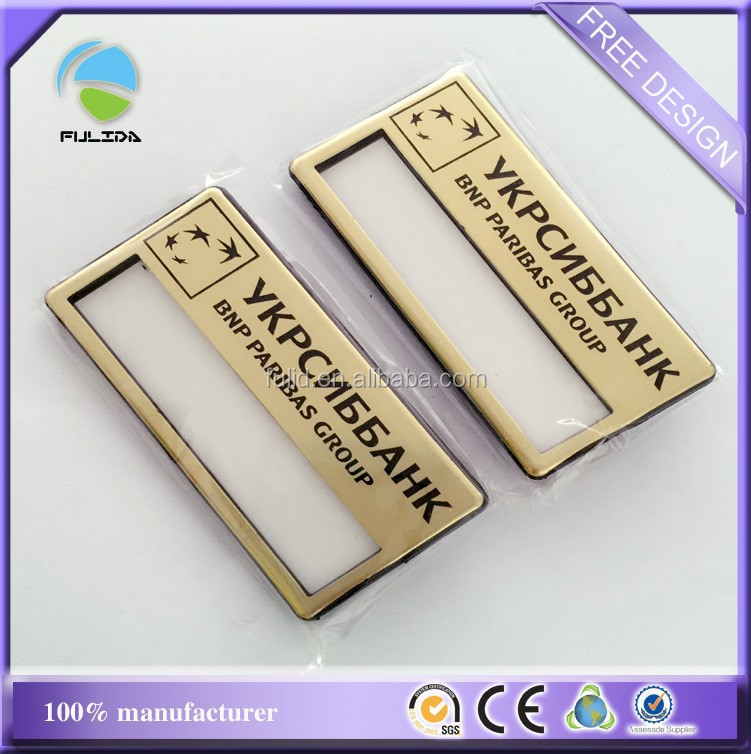 Gold Color Hotel Name Badges With Magnet,Plastic Abs Hotel Name Badge With  Pin - Buy Hotel Name Badges,Changeable Magnetic Name Badges,Name Badge With