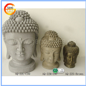 factory direct polyresin buddha head for sale