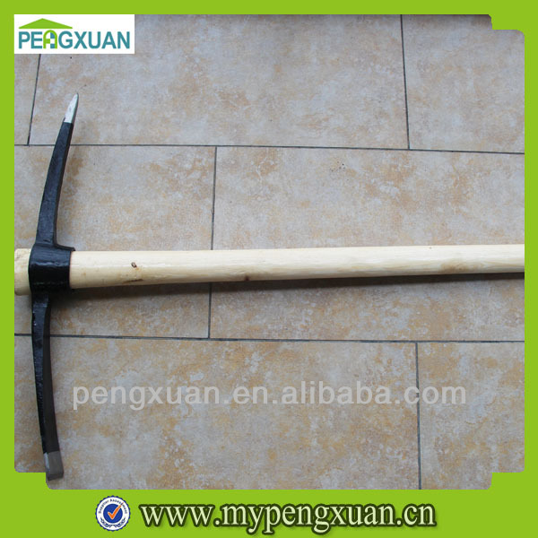 Pickaxe wooden handle lacquered