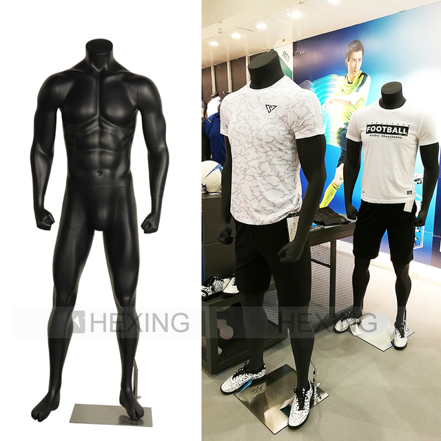 Window Display Headless Standing Muscle Male Mannequin