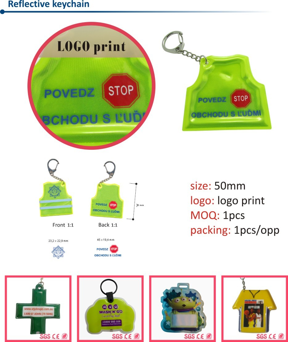 High Quality 2D Custom Shaped Soft PVC Keychains/Keychain for Promotional Gifts