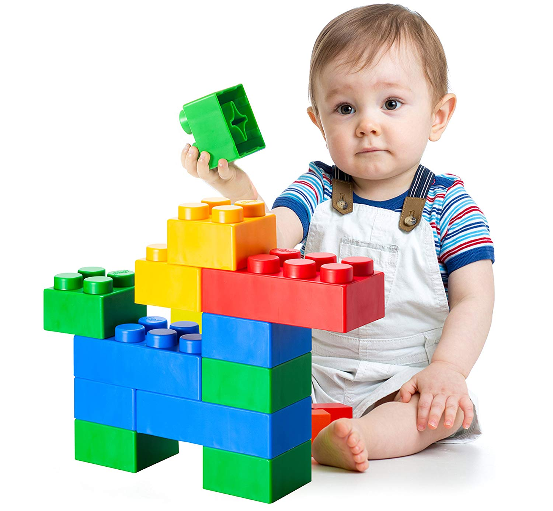 UNiPLAY Jumbo Soft Building Blocks - Plump Series (36pcs), Educational and Creative Toys, Food Grade Material(Antibacterial), Non-Toxic, BPA Free, 100%Safe for Kids, Toddlers, Baby, Preschoolers