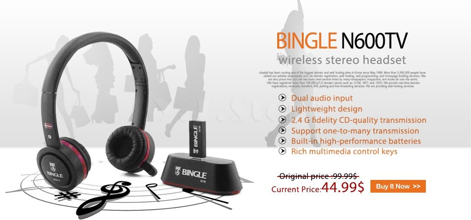 Originale Bingle B616 Cuffie stereo wireless multifunzione con microfono FM  Radio per MP3 PC TV Audio feae155ef6e4