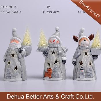 2018 led light christmas xmas ceramic santa claus decoration - Ceramic Christmas Decorations
