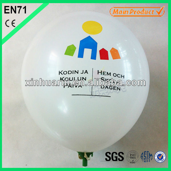Inflatable transparent helium balloon inkjet printing ballon