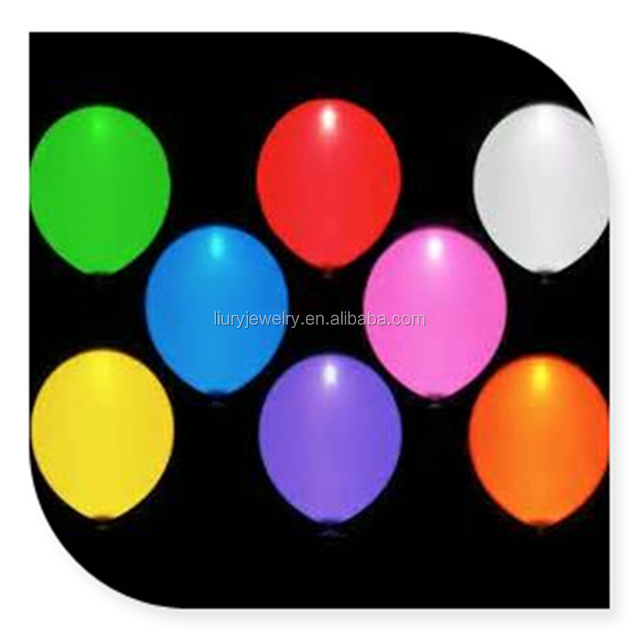 Light up balloons. Magic glow in the dark. Party decoration. LED BALLOON