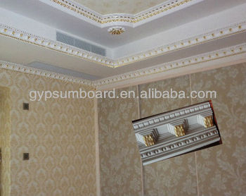 Golden Color Decorative Plaster Gypsum Cornice Moulding - Buy Plaster  Cornice Mould,Decorative Gypsum Cornice Moulding,Golden Color Gypsum  Cornice