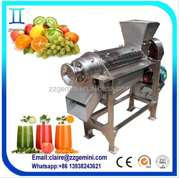High 70% juce rate pear juice Screw extractor, spiral fruit juicer, spiral juicing machine for fruit &vegetable